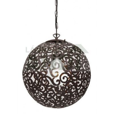 LAMPARA ETNICA METAL MARRON