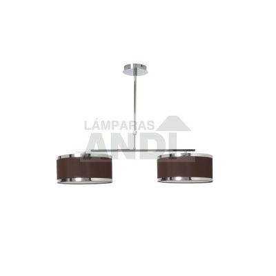 LAMPARA 2 LUCES LANZAROTE MARRON