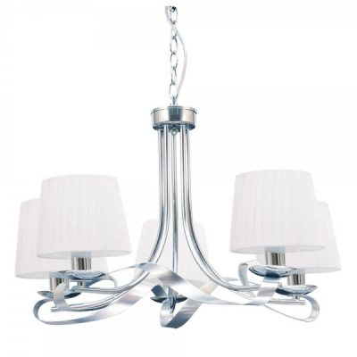 LAMPARA CLEVELAND 5 LUCES CROMO