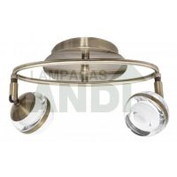 PLAFON LED MARATEA 2 LUCES CUERO