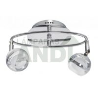 PLAFON LED MARATEA 2 LUCES CROMO