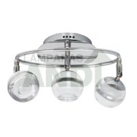 PLAFON LED MARATEA 3 LUCES CROMO
