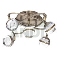 PLAFON LED MARATEA 5 LUCES CUERO
